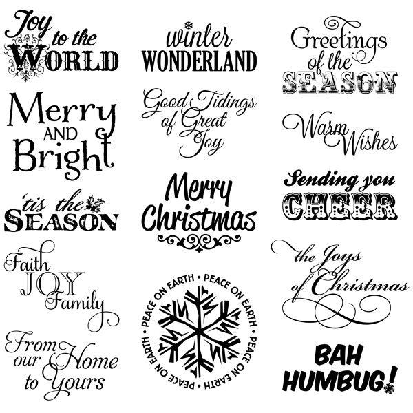 Christmas Sentiments 2 Digital Stamps