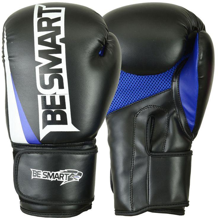 Boxing Gloves Sparring Gloves Punch Bag Training MMA Mitts Black 10-12-14-16oz
