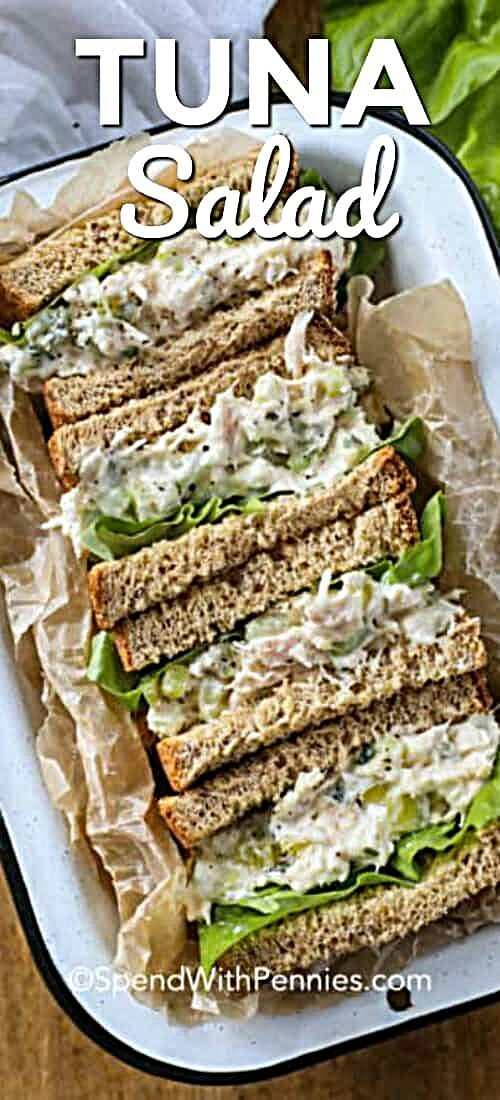 This fresh and easy tuna salad sandwich recipe is one of our go