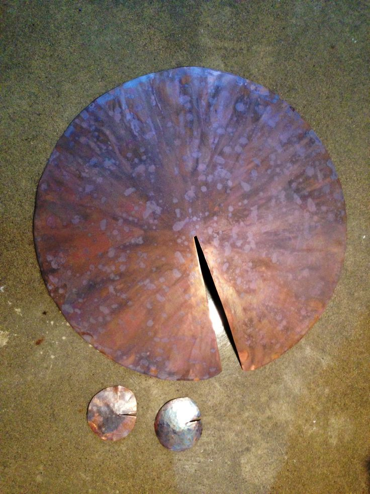 Hand hammered copper with SoDi designs patina finished