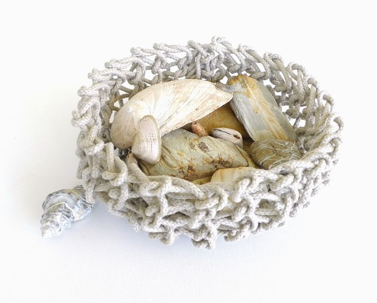 Linen Rope knitted bowl