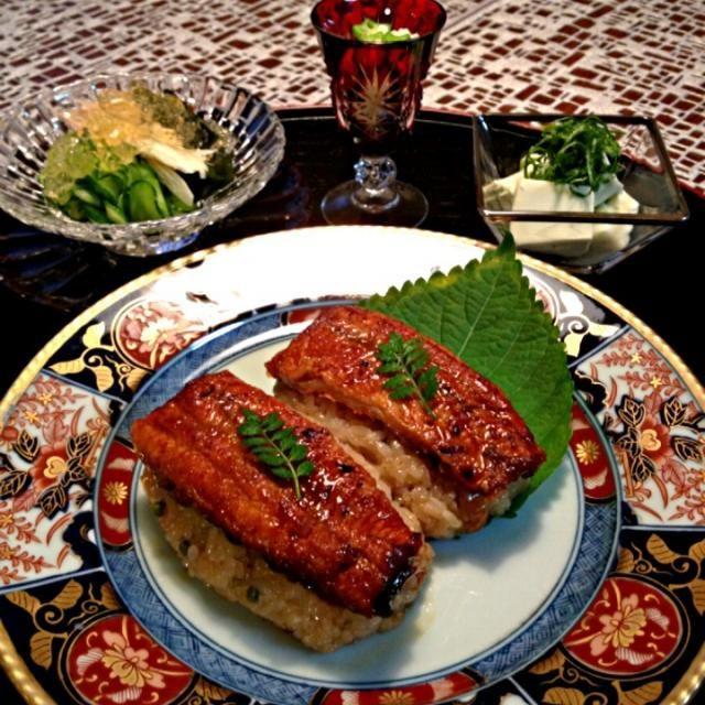 うなぎのたれを入れおこわを炊きました。おこわの中には大好きな実山椒を混ぜ込みました。 - 163件のもぐもぐ - 鰻おこわ膳 by AIMABLE