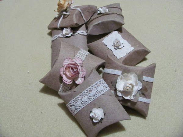 C mo hacer unas peque as cajas de regalo con rollos de - Manualidades con cajas ...