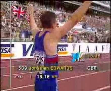 Jonathan Edwards. Comes across a bit smug on the TV, and leers too much at the young ladies, but my goodness what an awesome combination of talent and technique. One of the greatest WRs ever.
