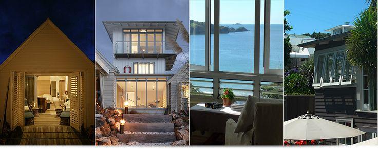 Luxury Beach Cottages by the sea | Luxury Coastal Cottages | Romantic Hotel The Boatsheds Waiheke Auckland New Zealand NZ