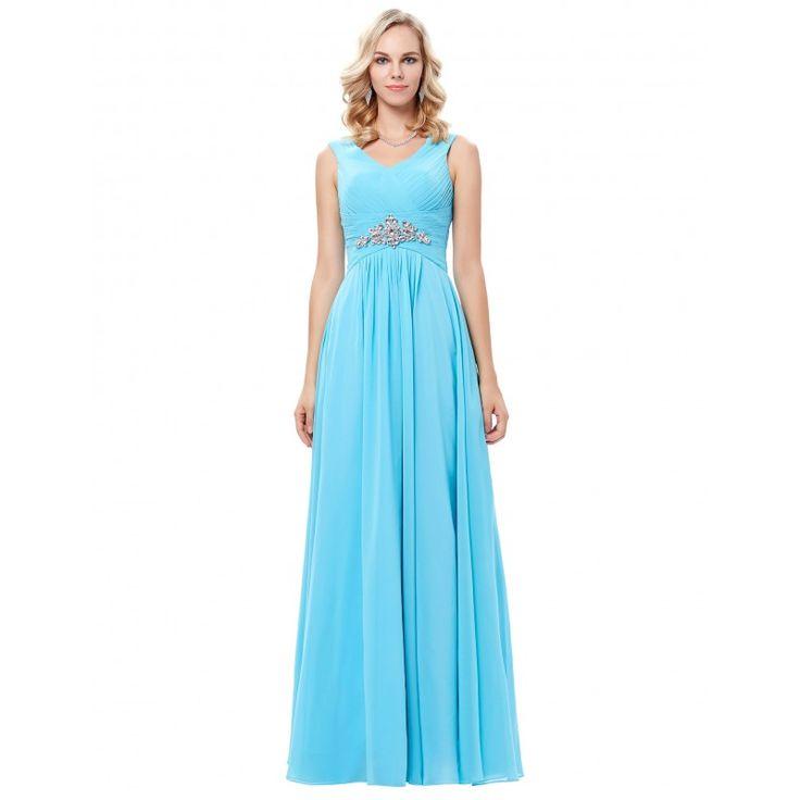 Modré spoločenské šaty GK000128