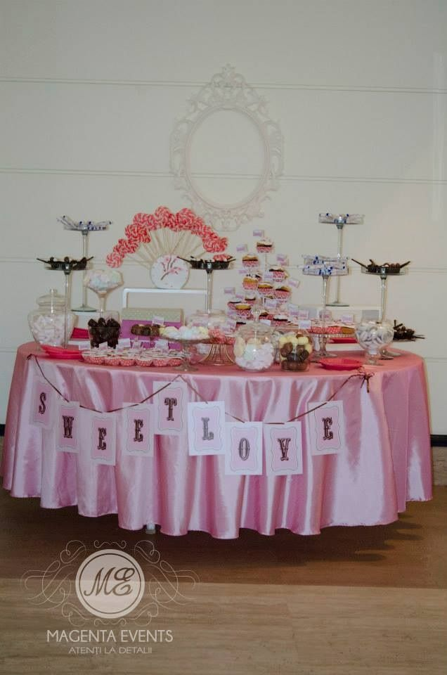 By www.magentaevents.ro #pink #candybar #nunta #iasi