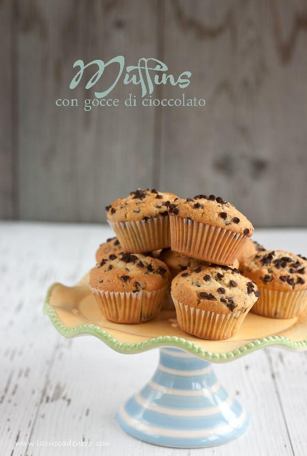La Cuoca Dentro: Muffins con gocce di cioccolato