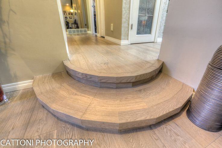 The stairs of this beautiful Home features Lauzon Flooring Fifth Avenue Wire Brushed hardwood flooring from the Urban Loft Series. #interiordesign #hardwoodfloor #artfromnature #stairs