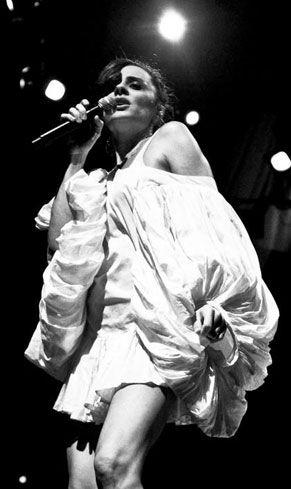 "Sabina Sciubba.lead singer of "" the brazillian girls""...beautiful!"
