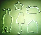 he Christmas Story cookie cutter kit includes a star cookie cutter, house cookie cutter, turkey cookie cutter (or perhaps a Peking duck), a leg lamp cookie cutter, and an outline of Ralphie in his bunny costume cookie cutter. $49.99