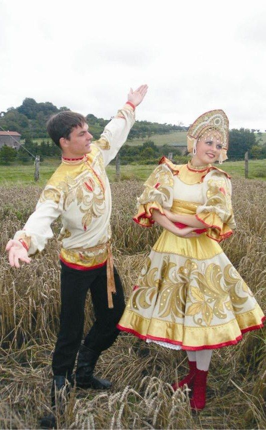 Russian costume, Russian dance.