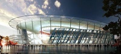 Ispirato al Colosseo, sarà tecnologicamente avanzato e sostenibile. Ecco il nuovo stadio della Roma: http://ow.ly/v3baH