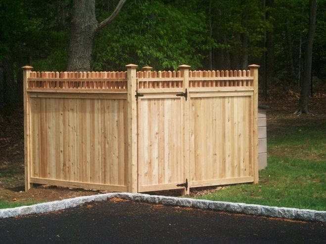 Dumpster Enclosure By Campanella Fence Company Dumpster