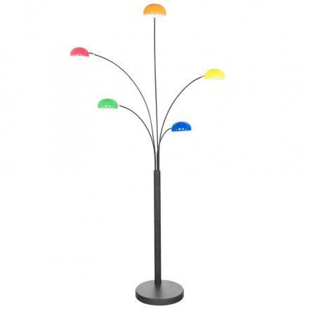 Lampada da terra design 5 ombreggia ROLLIER metallo verniciato (colorata) (Italiano (Italian))