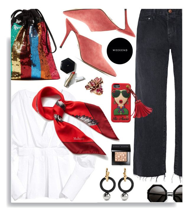 """""""Weekend"""" by hamaly ❤ liked on Polyvore featuring Simon Miller, Marni, Paul Andrew, Bobbi Brown Cosmetics, Passionata, Mulberry, H&M, outfit, denim and prints"""
