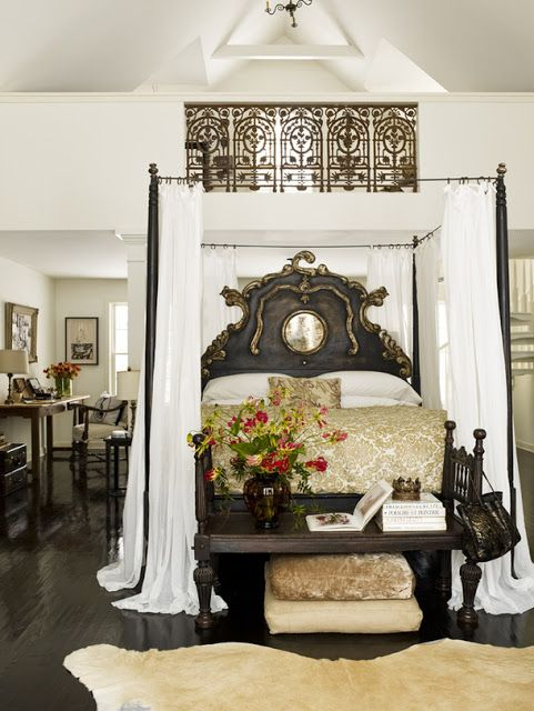 Bedrooms Spaces Beds Room Dark Floors Master Bedrooms British Colonial