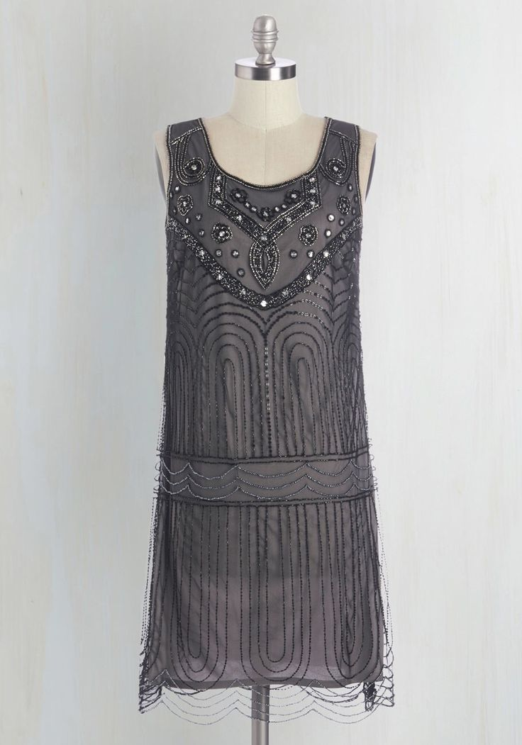 Great 20's style embellished party dress from #ModCloth