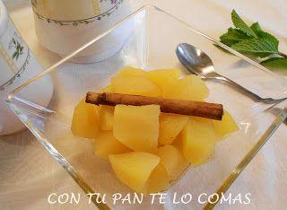 Con tu pan te lo comas: COMPOTA DE MANZANA (MICROONDAS)