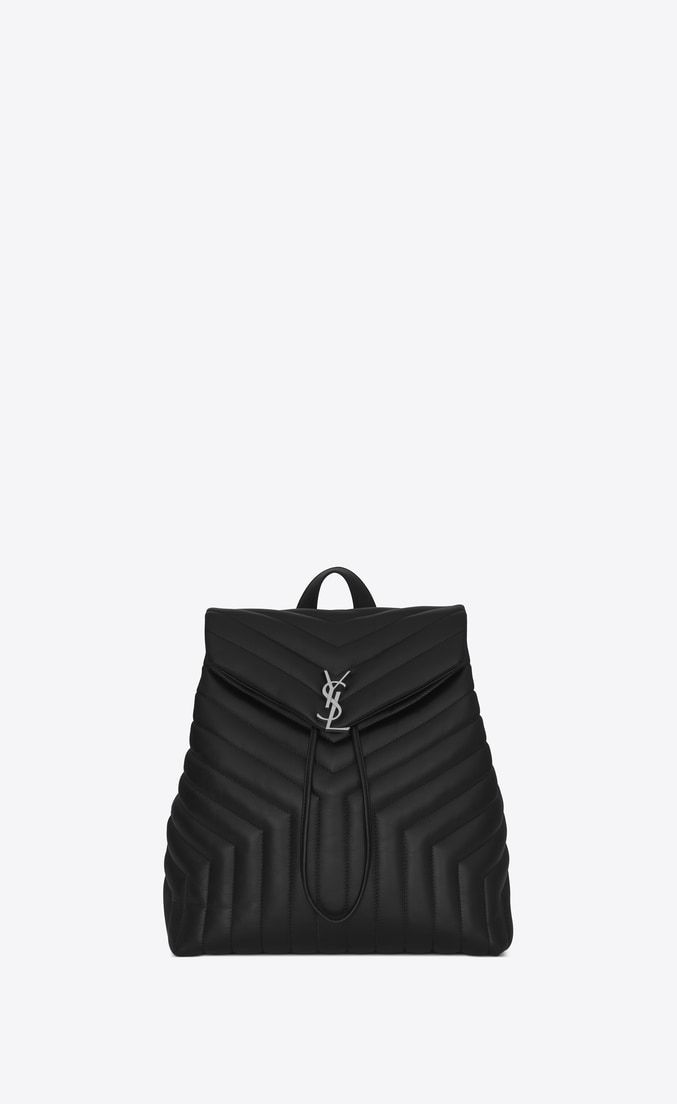"""b0dc4faa35 loulou small backpack in matelassé """"Y"""" leather in 2019 