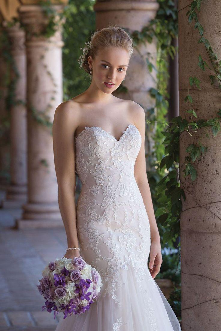 Sincerity Bridal - Style 4035: Meerjungfrau-Kleid mit geschnürter Spitze und Tüll, Herz-Ausschnitt