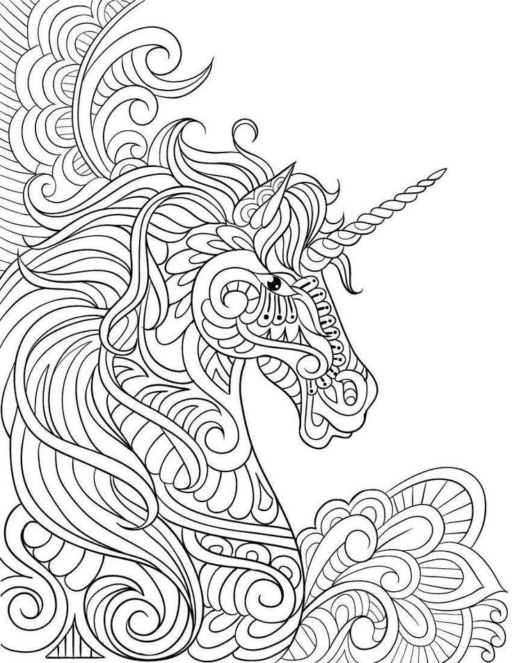 Dibujos de UNICORNIOS para Colorear   Mandalas para pintar ...
