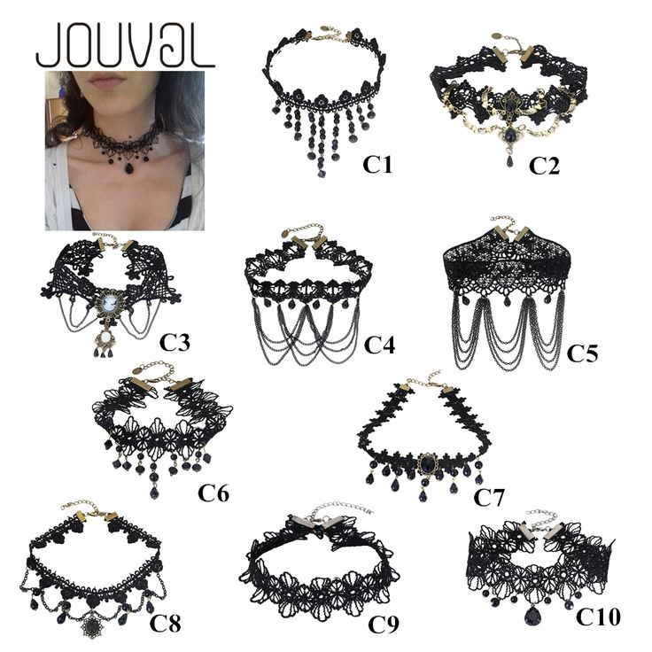 2017 Collares Sexy Gothic Chokers Crystal Black Lace Neck Choker Necklace Vintage Victorian Women Chocker Steampunk Jewelry