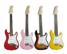 34′( 88cm L) electric guitar for children_3 single pickup 34'elelctric guitar for kids & Adults(Red/Yellow color)