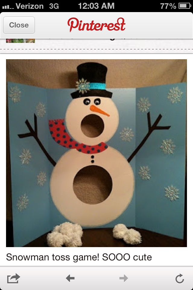 Snow Man Bean Bag Toss I Made One And It S So Much Fun