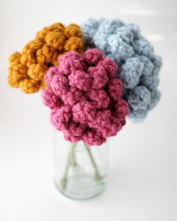 Faux Bouquet, Crochet Flower, Hand Crocheted Flower, Forever Flower, Faux Flower, Choose your colors
