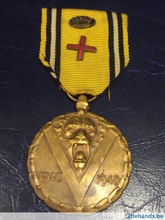 Abbl medaille brigade piron rood kruis +pays bas 1944-45
