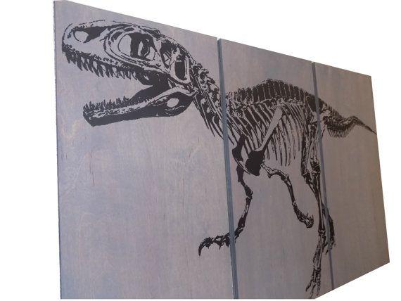 Fossil Velociraptor Dinosaurier Skelett Screen von CedarWorkshop