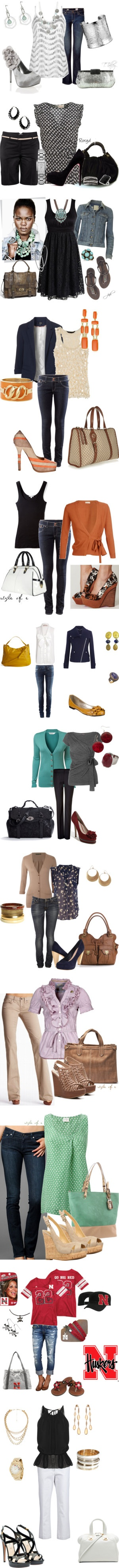 """""""Weekend Wear"""" by rebelynne ❤ liked on Polyvore...everything BUT the Huskers stuff...gotta chg to Hawkeyes!"""