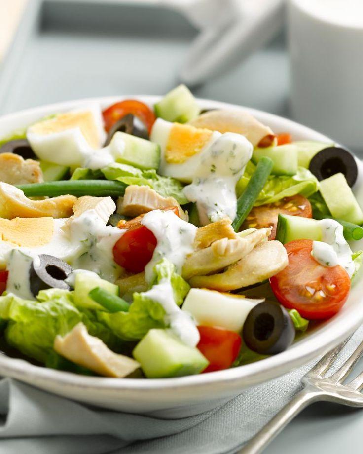 Salade niçoise met kip