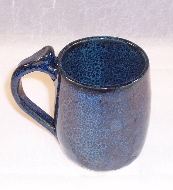 blue coffee mug ceramic coffee cup sapphire by