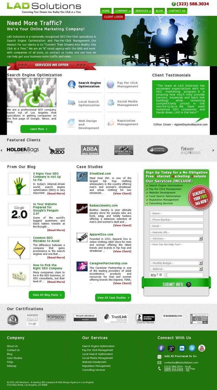 The website #ladsolutions.com courtesy of @Pinstamatic (http://pinstamatic.com)