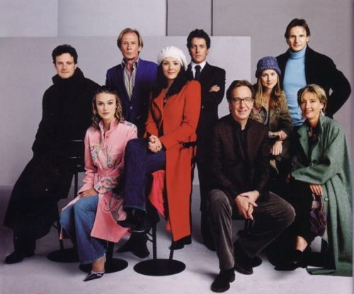 COLIN FIRTH (Jamie), Keira Knightley (Juliet), Bill Nighy (Billy Mack), Martine McCutcheon (Natalie), Hugh Grant (The Prime Minister), Alan Rickman (Harry), Laura Linney (Sarah), Liam Neeson (Daniel) & Emma Thompson (Karen) - Cast of Love actually (2003)