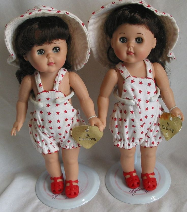 """Pair of 8"""" Vogue Ginny Doll Twins   1988"""