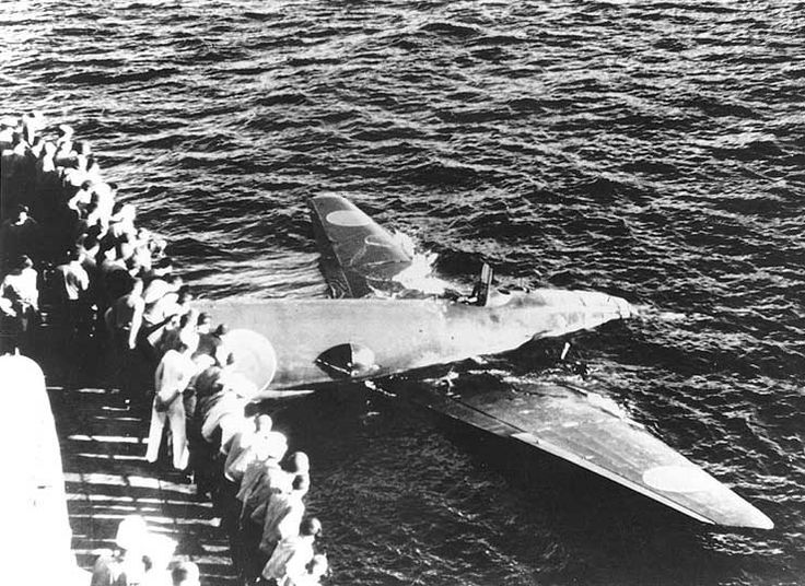 Photo  Floating Japanese G4m1 Bomber Off Tulagi  Solomon