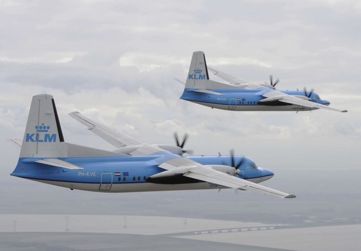 KLM cityhopper last flight of the Fokker 50 in 2010