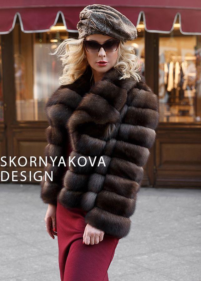 Sable fur jacket Куртка из соболя Москва