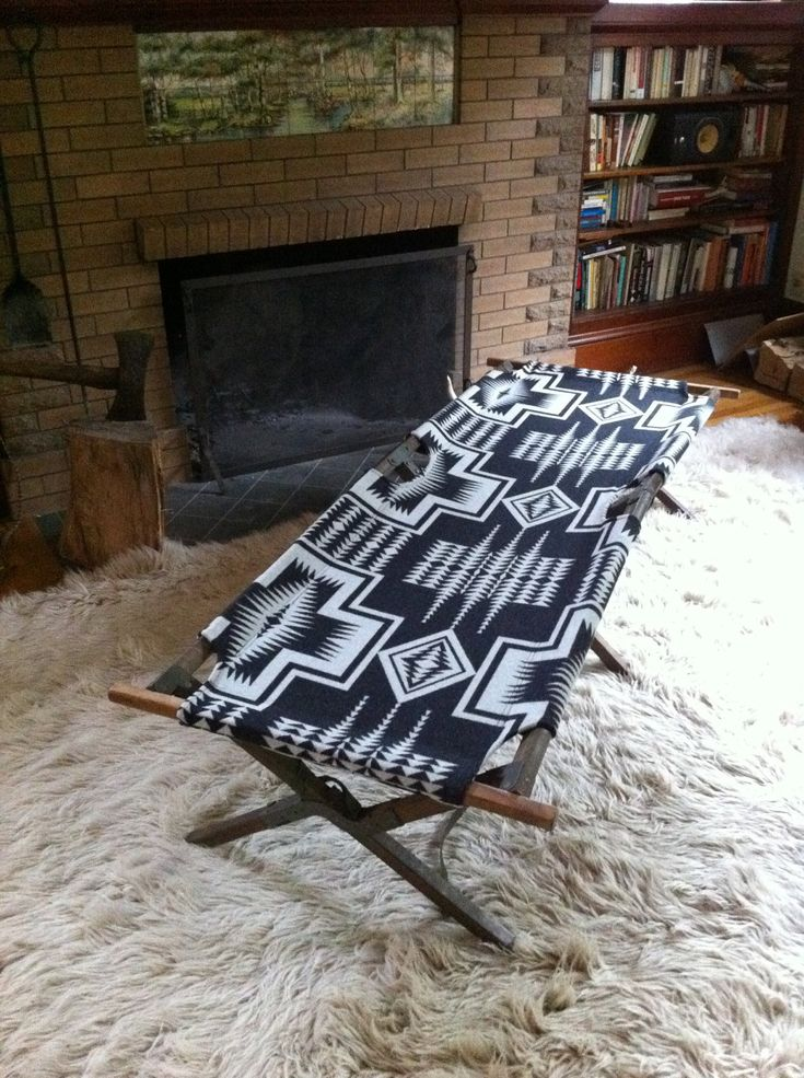 Vintage Indian Summer Cot, Pendleton Native American Blanket Fabric from Indian vs Indian on Etsy