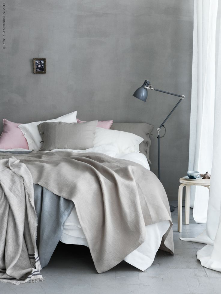 Bedroom inspiration. ARÖD- IKEA Floor/reading lamp, gray $49.99 Article Number: 001.486.95 #IKEA_Gift_Registry