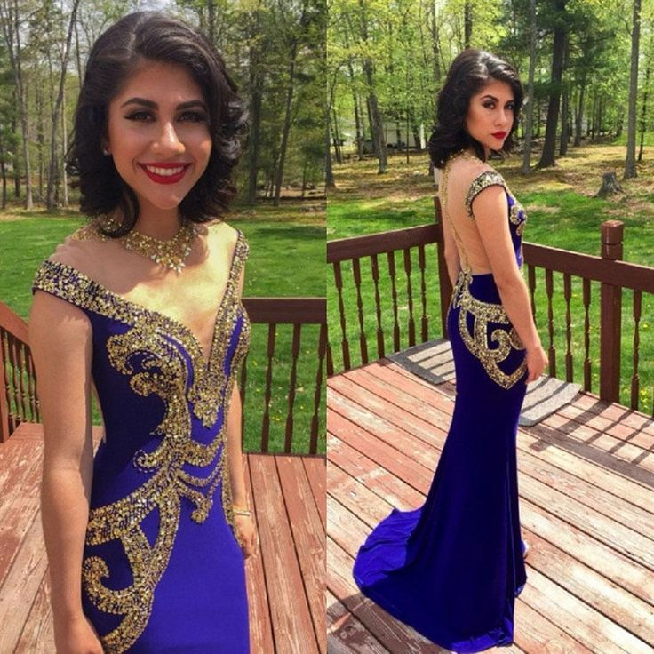 Find More Prom Dresses Information about 2016 Sparkly royal blue prom dresses…