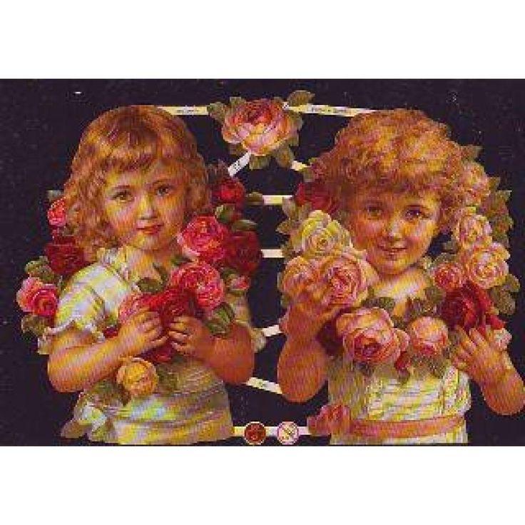 Glanzbilder Oblate Relief Kinder