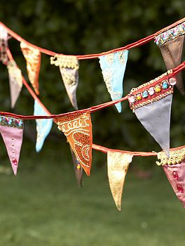 Bollywood Bunting - in the right colours this could go in the living room or the bedroom