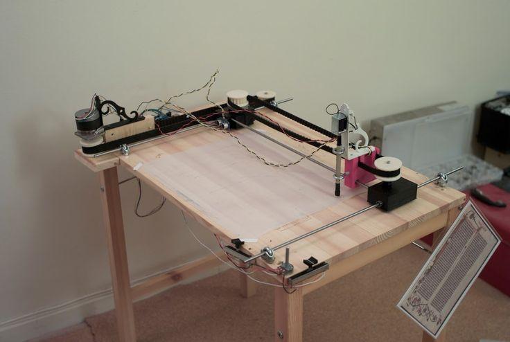 An example xy plotter table flyplotter pinterest
