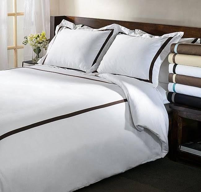 White Bedding With Brown Trim Duvet Cover Sets Solid Duvet Duvet Covers