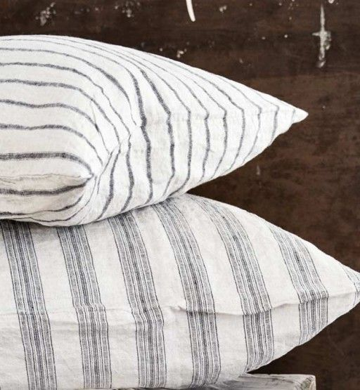 Striped Linen Pillowcase | Soft Luxury Bed Linen