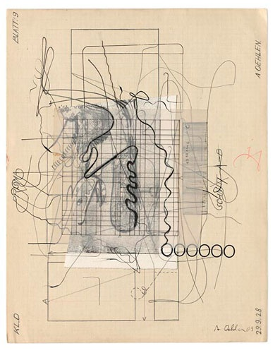 Albert Oehlen Untitled, 2009 Paper, India ink and pencil on paper 13 1/2 x 10 1/2 inches (34.2 x 26.8 cm)